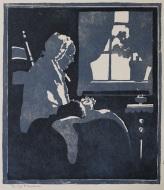 Gardiner   Old Woman Knitting