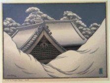 Miller | Snow on Temple Roofs