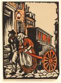 Peck | Man and Woman Pulling Barrel Organ