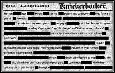 No Longer Knickerbocker | Susan Powers Bourne