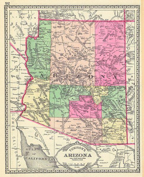 Arizona_Territory_Map,_1881
