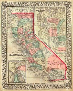 California map 1867