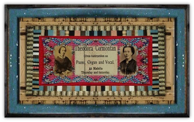 Theodora Cormontan(09 jun 1840 – 26 oct 1922 | Beitstad, Norway - Decorah IA) pianist, organist, hymnist, composer, teacher, music publisher, music-lending librarian | women.born.before © susan.powers.bourne