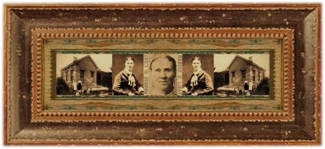 Hannah Maria Libby Smith(29 jun 1828 - 21 sep 1906 | Ossipee NH - Provo UT) bobbin doffer, rug weaver, needleworker, Mormon pioneer / educator | women.born.before © susan.powers.bourne
