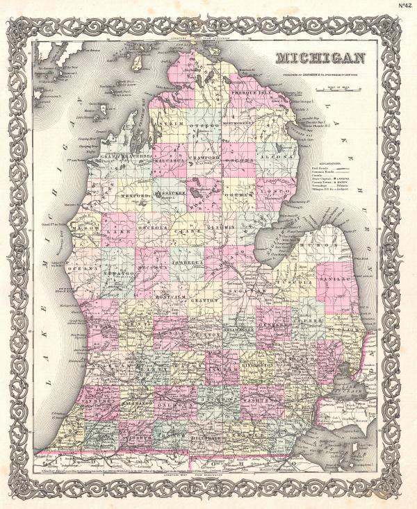 1855_Colton_Map_of_Michigan_-_Geographicus_-_Michigan-colton-1855