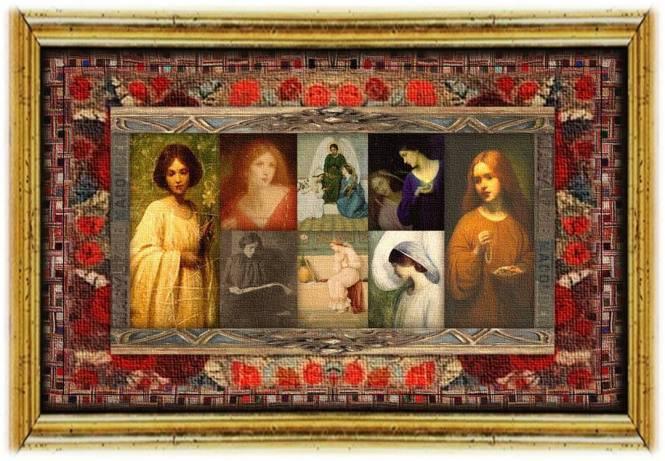 Mary Lizzie Macomber(21 aug 1861 – 04 feb 1916 | Fall River MA - Boston MA)Pre-Raphaelitepainter | women.born © susan.powers.bourne