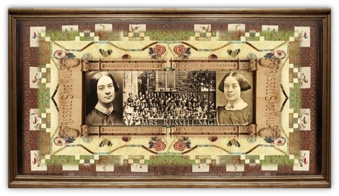 Margaret Olivia Slocum Sage(08 sep 1828 – 04 nov 1918 | Syracuse NY - New York NY) teacher, heiress, philanthropist, arts / museum patron, progressive education advocate, founded Russell Sage College for women| women.born © susan.powers.bourne