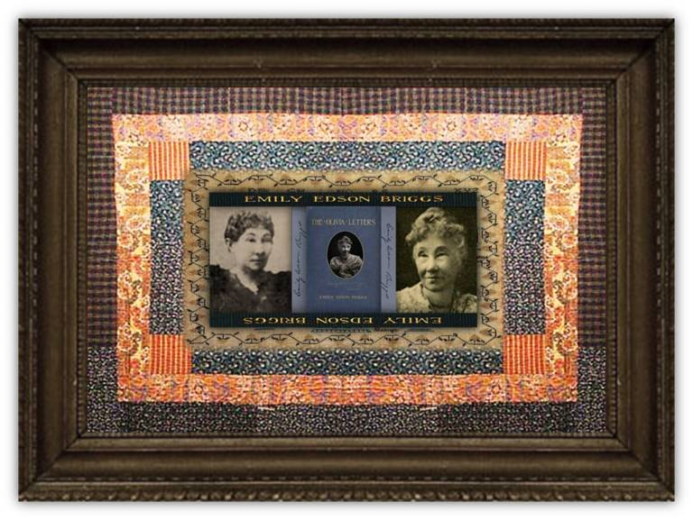 Emily Pomona Edson Briggs(14 sep 1830 – 03 jul 1910 | Burton OH - Washington DC) journalist,first Lincoln White House female correspondent, first president of Women's National Press Association | women.born © susan.powers.bourne