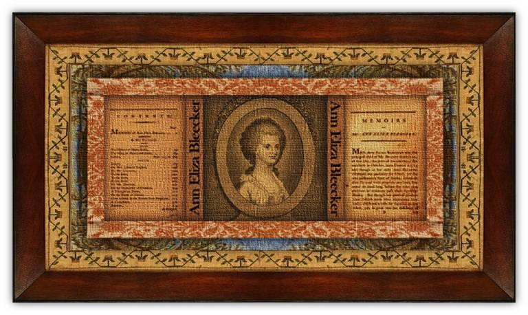 Ann Eliza Schuyler Bleecker(11 oct 1752 – 23 nov 1783   New York, New York Colony - Albany NY) poet, short story writer, letter correspondent   women.born © susan.powers.bourne
