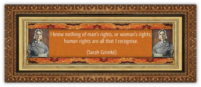 Sarah Moore Grimké (26 nov 1792 – 23 dec 1873 | Charleston SC - Boston MA) writer, speaker, suffragist, abolitionist, feminist, women's lawyer / law activist | women.born © susan.powers.bourne