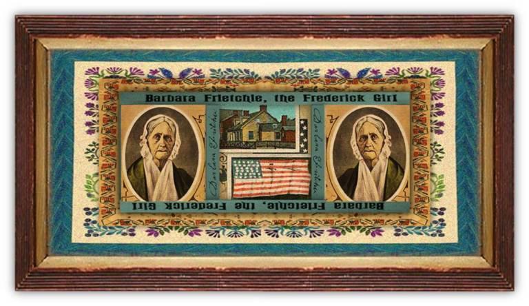 Barbara Hauer Fritchie (03 dec 1766 – 18 dec 1862 | Lancaster PA - Frederick City MD) folk figure, American Civil War Union activist