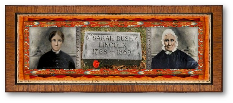 Sarah Bush Lincoln (13 dec 1788 - 12 apr 1869 | Elizabethtown KY - Coles County IL) political family figure, US President Abraham Lincoln's step-mother | women.born.today © susan.powers.bourne