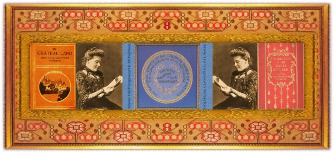 Anne Hollingsworth Wharton(15 dec 1845 - 29 jul 1928   Southampton Furnace PA - Philadelphia PA) author, essayist, genealogist, US Colonial / Revolutionary historian   women.born.today © susan.powers.bourne