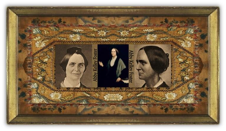 Abigail [Abby] Kelley Foster (15 jan 1811 - 14 jan 1887 | Pelham MA - Worcester MA) suffragist, abolitionist, women's rights activist, radical social reformer | women.born.today © susan.powers.bourne
