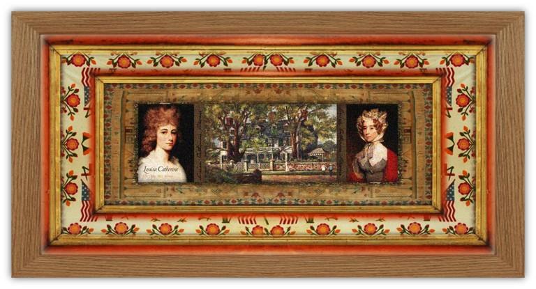 Louisa Catherine Johnson Adams(12 feb 1775 - 15 may 1852 | London UK - Washington DC) English-American diarist, harpist, travel writer, US Presidential First Lady | women.born.today © susan.powers.bourne