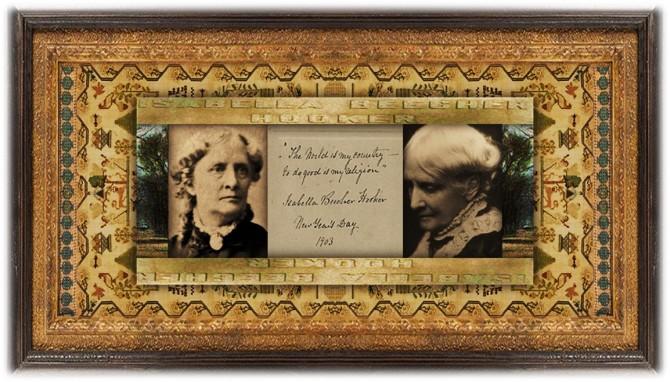 Isabella Beecher Hooker (22 feb 1822 - 25 jan 1907 | Litchfield CT - Hartford CT) author, suffragist activist / leader / lecturer | women.born.today © susan.powers.bourne