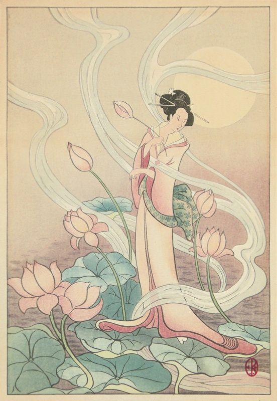Burton Woman with Lotuses