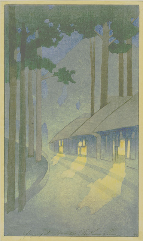 Lum Road-through-the-Forest-at-Nikko--Carmel-Cottages