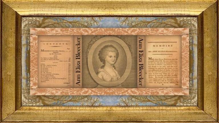 11 oct 1752 Ann Eliza Bleecker