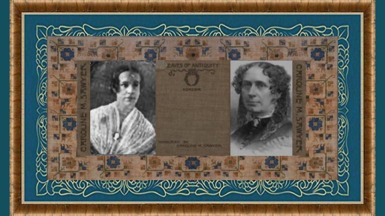 10 dec 1812 Caroline Mehetabel Fisher Sawyer