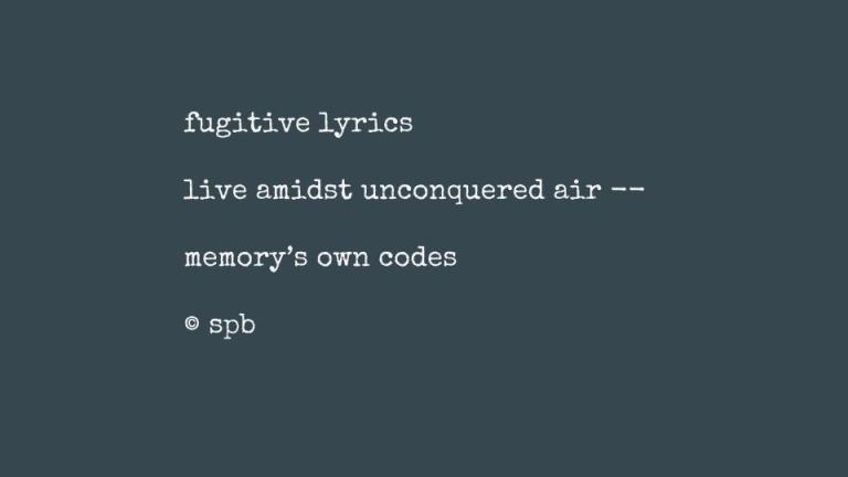 fugitive lyrics