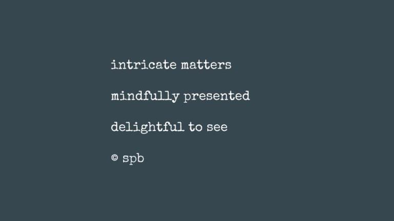 intricate matters